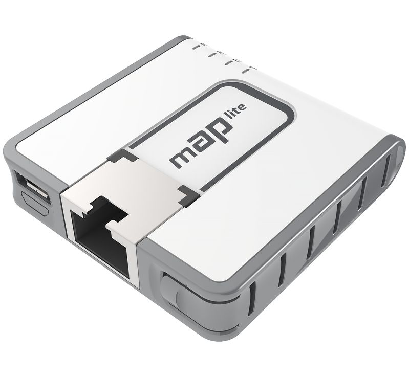 (mAP lite) Mini Access Point 1 Puerto Fast Ethernet, Wi-Fi 2.4GHz 802.11b/g/n  Modelo: RBMAPL-2ND